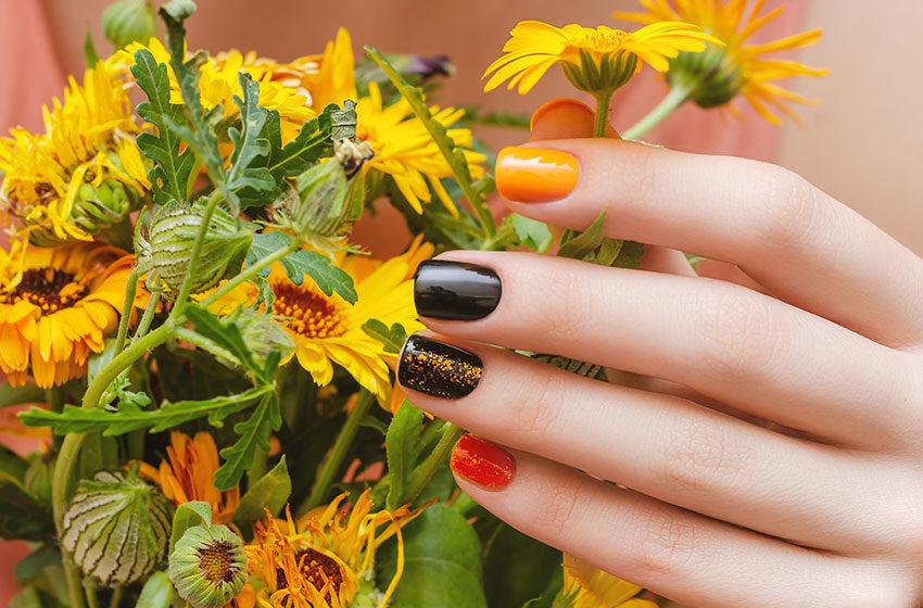 رنگ های مناسب برای لاک پاییزی