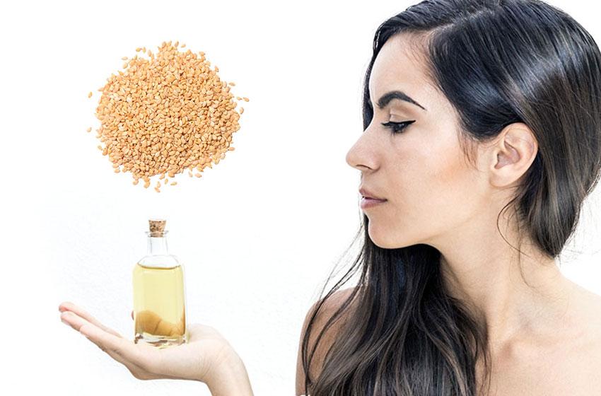 خواص درمانی و کاربردهای روغن کنجد برای مو