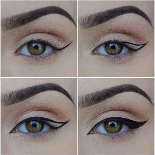 خط چشم قرینه-خانومی